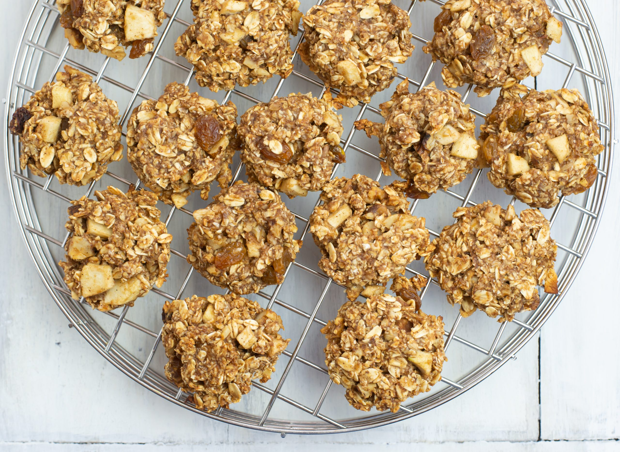 Apple Cinnamon Vanilla Breakfast Cookies