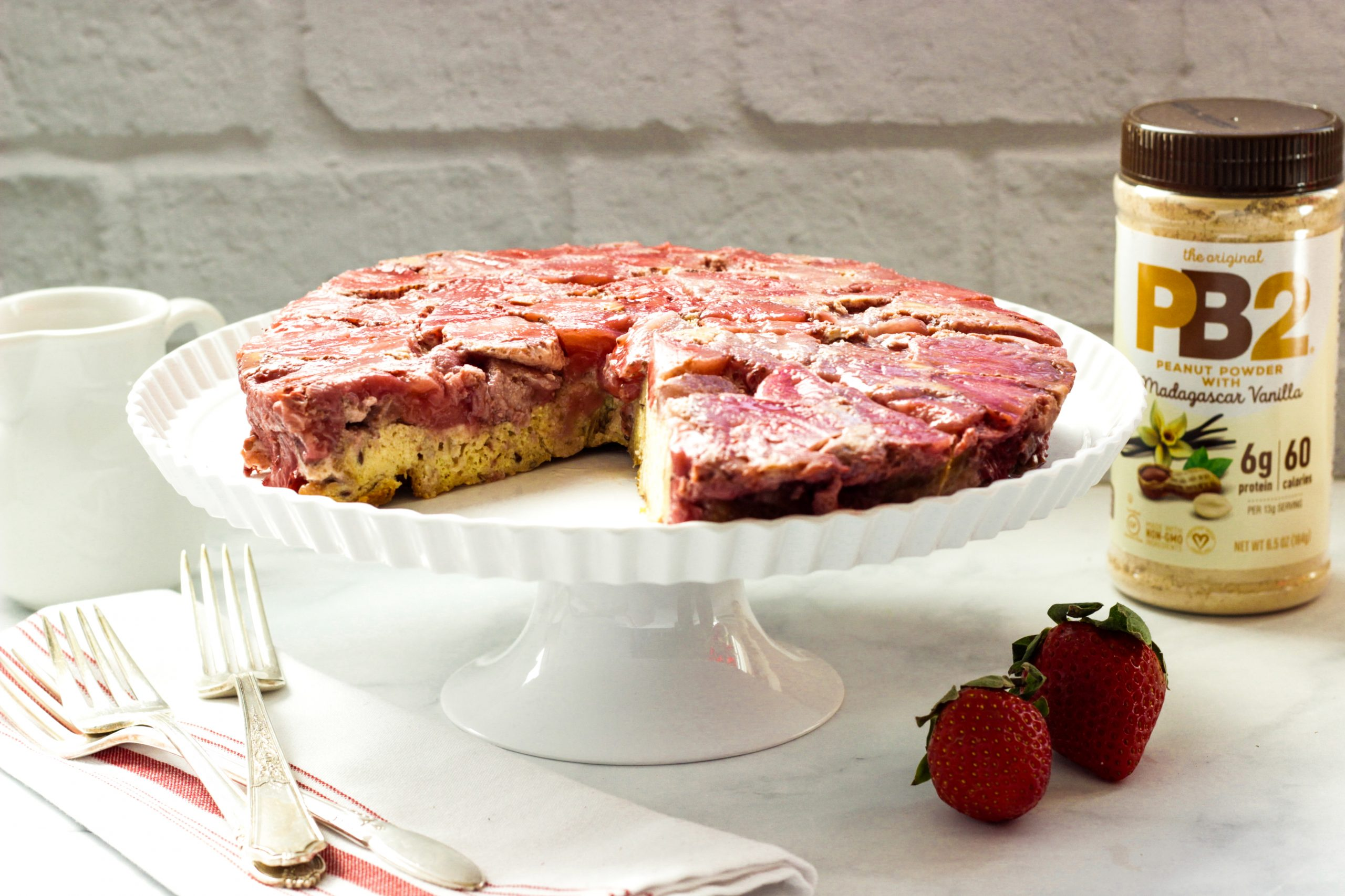 Strawberry Peanut Butter Baked French Toast