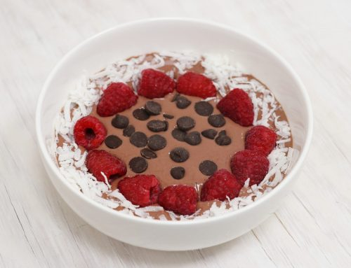 Raspberry Dark Chocolate Smoothie Bowl Recipe