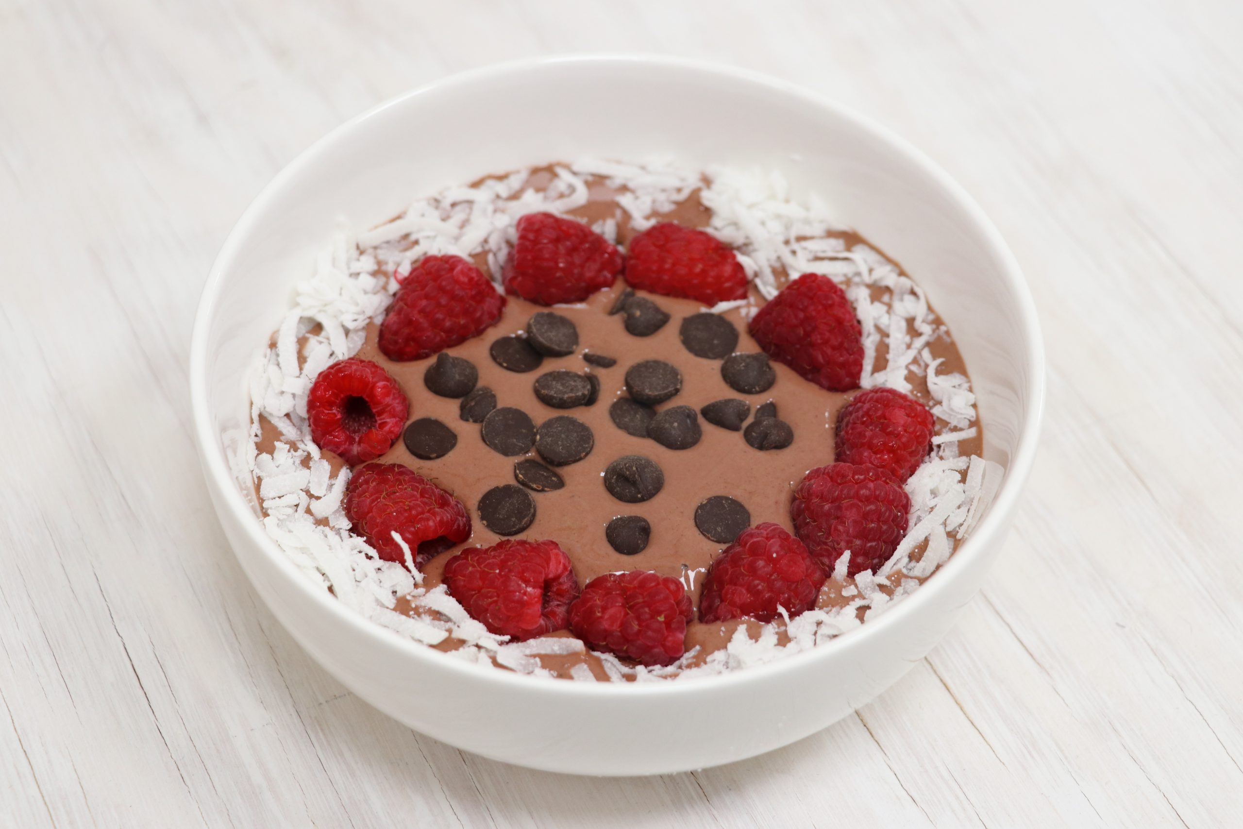 Raspberry Dark Chocolate Smoothie Bowl