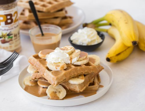 Peanut Butter Banana Waffles Recipe