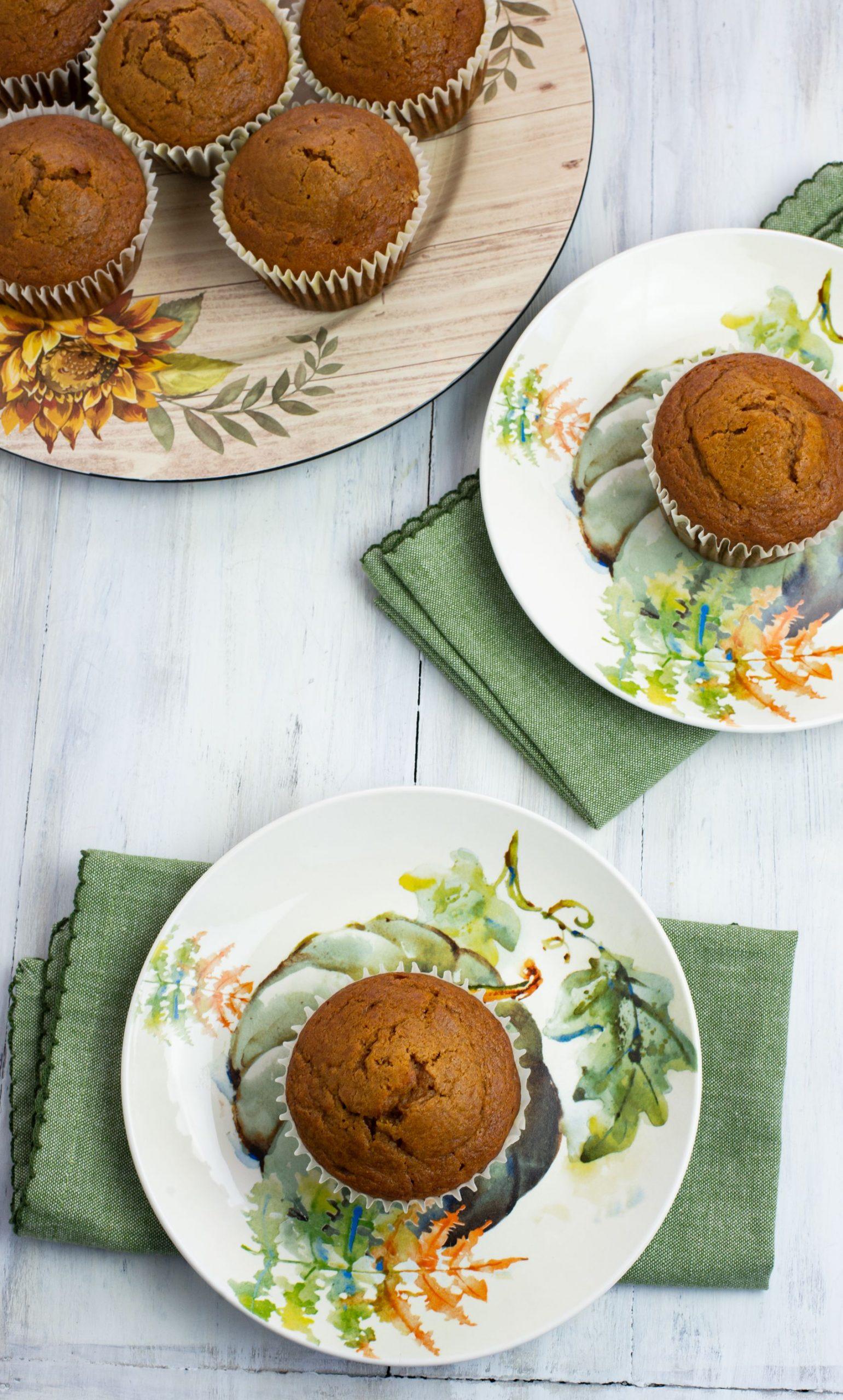 Pumpkin Spice Peanut Butter Muffins