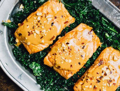 Baked Peanut Salmon
