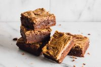 Chocolate Peanut Butter Brownies: Delightfully tasty and dairy-free, these peanut butter brownies are the simply the best.