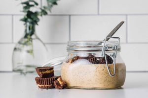 Chocolate Peanut Butter Chia Pudding: Packed with protein from milk and chia seeds, this pudding is the definition of a healthy indulgence.