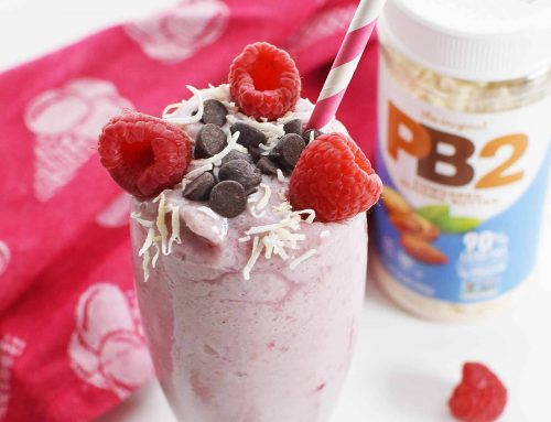 Almond Powder Smoothie with Raspberry Banana