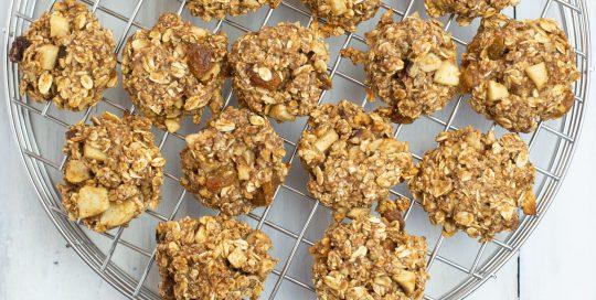 Apple Cinnamon Vanilla Breakfast Cookies