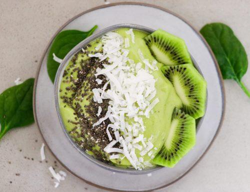 Mango and Banana Green Smoothie Bowl Recipe