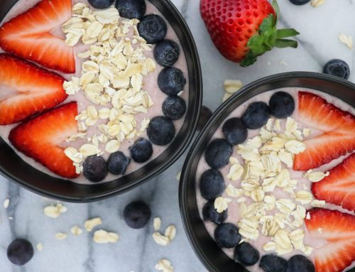Strawberry Almond Oatmeal Bowl Recipe