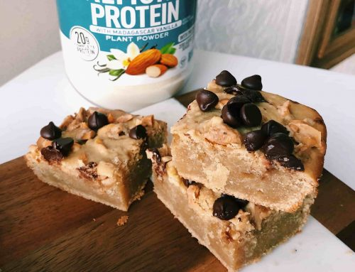 Salted Vanilla Almond Blondies Recipe