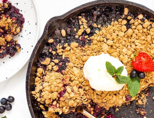 Peanut Butter Berry Crisp