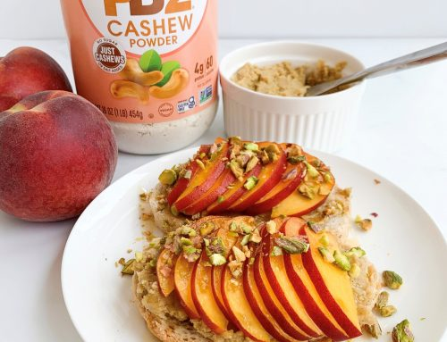 Ricotta Toast with Peaches and Pistachios